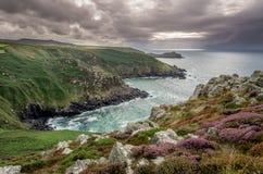 Na sposobie Zennor w Cornwall uk Anglia Obraz Stock