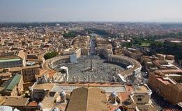 Na St. Kwadracie panoramiczny widok Peter Fotografia Stock