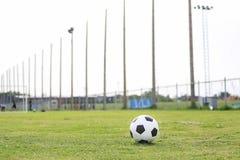 Na stadium abstrakcjonistyczna t?o futbolu pi?ka no?na Fotografia Stock