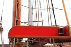 Na starym jachcie statku olinowanie Zdjęcie Royalty Free