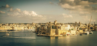 Na stronie przeciwnej Valletta zatoka Obraz Stock