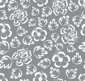 Na szarym tle bezszwowy koronkowy kwiecisty wzór Obraz Royalty Free