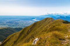 Na szczycie wysokogórski szczyt Obraz Stock