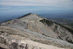 Na szczycieFAL TG0 0N w tym stadium halnego Mont Ventoux Obrazy Royalty Free