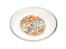 Na talerzu kolorowi cukierki Fotografia Stock