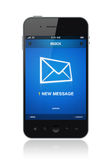 Na telefon komórkowy nowa wiadomość Fotografia Stock