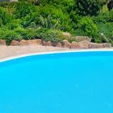 na terenach odkrytych basen opływa Obrazy Royalty Free