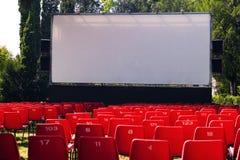 na terenach odkrytych kino Zdjęcia Stock