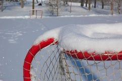 na terenach odkrytych lodowiska łyżwiarstwo Fotografia Royalty Free