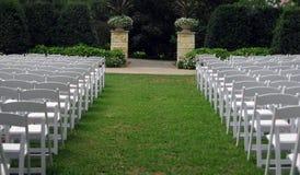 na terenach odkrytych ślub Zdjęcie Royalty Free