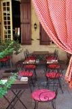 na terenach odkrytych wiejskiego café Obrazy Stock
