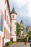 Na terytorium Deutschherrenhaus w Koblenz Zdjęcia Royalty Free