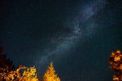 Na trasie Milky sposób zdjęcia royalty free