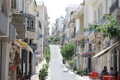 Na ulicach Agios Nikolaos, Crete Zdjęcia Stock