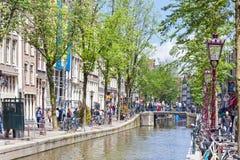 Na ulicach Amsterdam miasto, holandie Obrazy Royalty Free