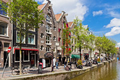 Na ulicach Amsterdam miasto, holandie Fotografia Stock