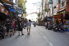 Na ulicach Ho Chi Minh, Saigon Wietnam Zdjęcia Royalty Free