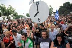 Na ulicach protestującego marsz Obrazy Stock