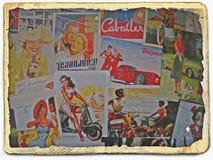 Na ulicach VilniusRetro pocztówki obrazy stock