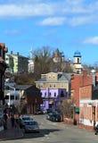Na ulicie Gloucester, Massachusetts wielki miasto przylądek Ann fotografia royalty free
