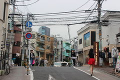Na ulicie Harajuku okręg Tokio, Japonia (,) Obrazy Stock