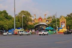 Na ulicie w Bangkok. Tajlandia. zdjęcia stock