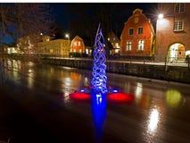 Na Uppsala wszystkie światła Fotografia Royalty Free