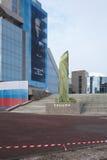 Na véspera da abertura de um monumento a 1 presidente Foto de Stock