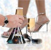 Na véspera de Ano Novo de Dance Floor Fotografia de Stock
