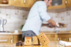 Na van het koken van een heerlijk biscuitgebak stock afbeeldingen