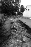 Na vloed in stad Chrastava, dichtbij Liberec Stock Foto's