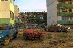 Na vloed in Varna Bulgarije 19 Juni Royalty-vrije Stock Foto's