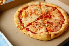 na widok Pizzy dostawa Pizza menu Zdjęcia Royalty Free