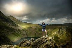 Na wierzchołkach góra zdjęcie royalty free