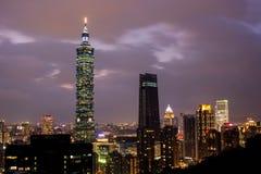 Na wierzchołku Taipei zdjęcia royalty free