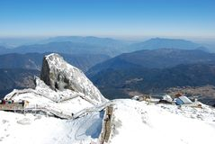 Na wierzchołku yulong śniegu góra Obrazy Royalty Free