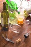 Na wijn knoeit de partij Royalty-vrije Stock Afbeeldingen