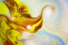 Na wodzie abstrakcjonistyczna sztuka Obraz Stock