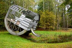 Na wolnym powietrzu dzisiejszej ustawy muzeum Europos Parkas vin Lithuania Obrazy Royalty Free