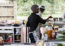Na wolnym powietrzu kuchnia w Kruger parku narodowym Zdjęcie Royalty Free