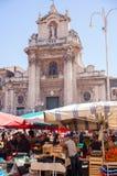 Na wolnym powietrzu owocowy rynek, Catania Fotografia Royalty Free