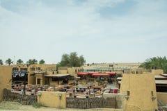 Na wolnym powietrzu piękna arabska restauracja przy środkiem pustynia Zdjęcie Royalty Free
