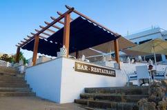 Na wolnym powietrzu restauracja w Mallorca i bar, Hiszpania obraz stock