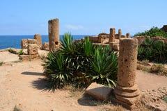 Na wolnym powietrzu, ruiny, kolumny Obrazy Royalty Free