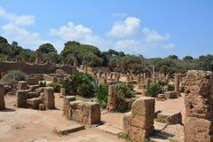 Na wolnym powietrzu, ruiny, kolumny i ściany, Zdjęcia Royalty Free