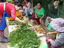 Na wolnym powietrzu rynek, Luang Prabang, Laos Obraz Stock