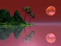 na wyspie marzeń royalty ilustracja