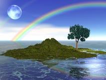 na wyspie marzeń ilustracja wektor