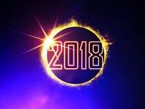 2018 na zaćmieniu słońce Obraz Stock