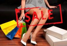 na zakupy torby na zakupy kobiety Wakacje sprzedaż Zdjęcia Royalty Free
